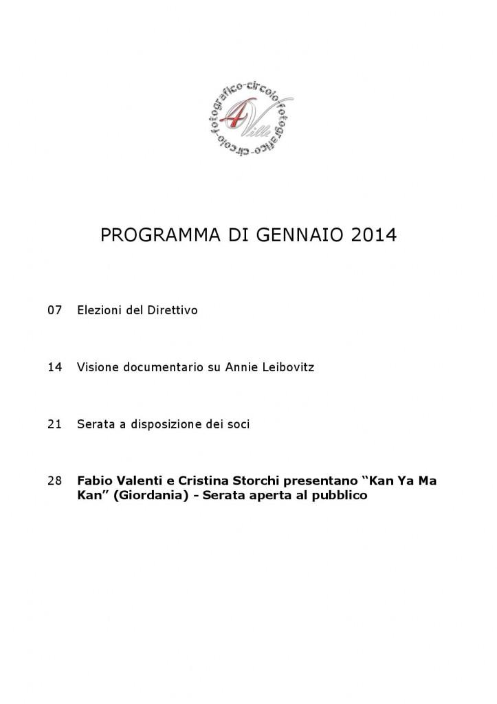 Programma 01 2014