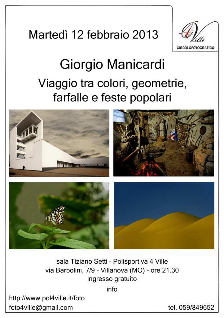 locandina Giorgio Manicardi