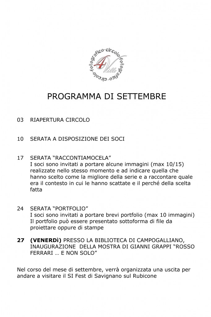 Programma 09 2013
