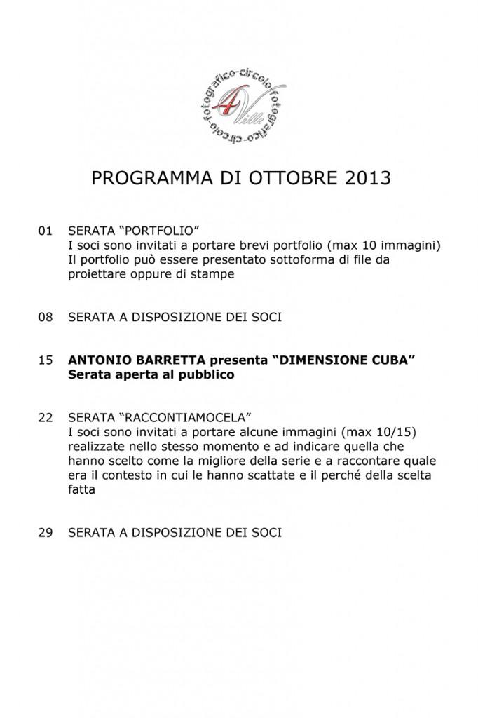 Programma 10 2013