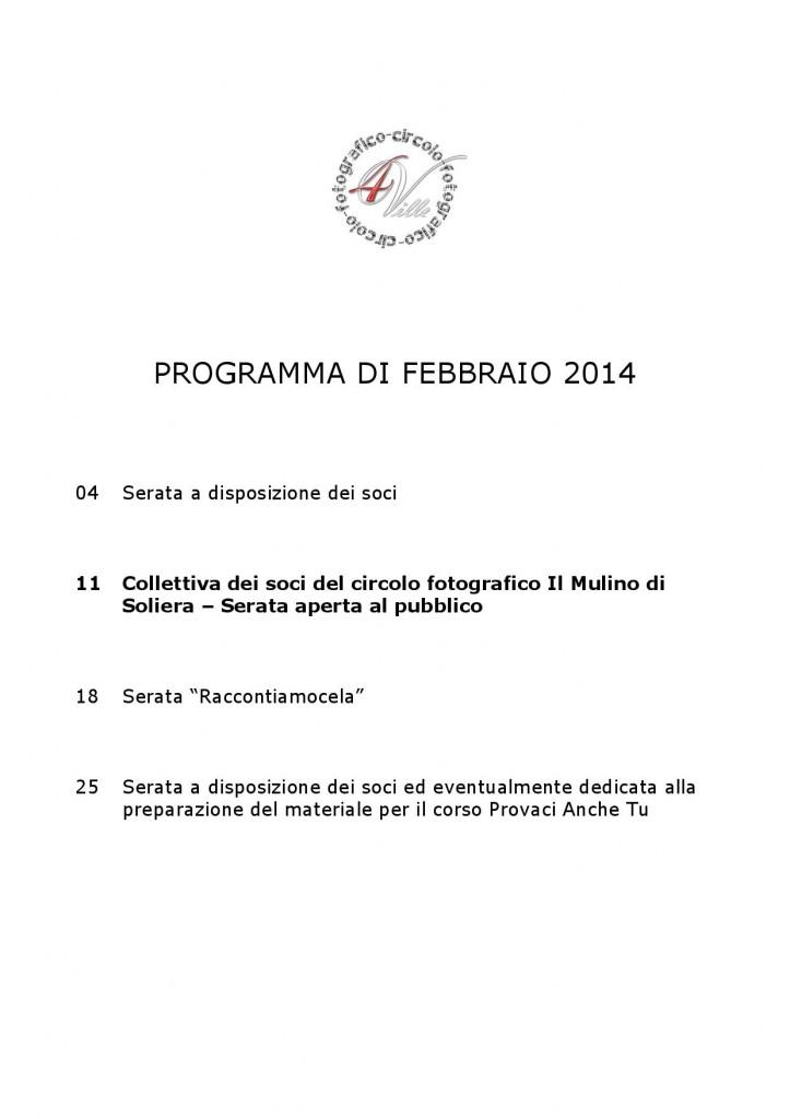 Programma 02 2014