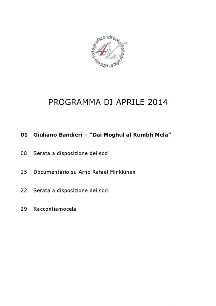 Programma 04 2014