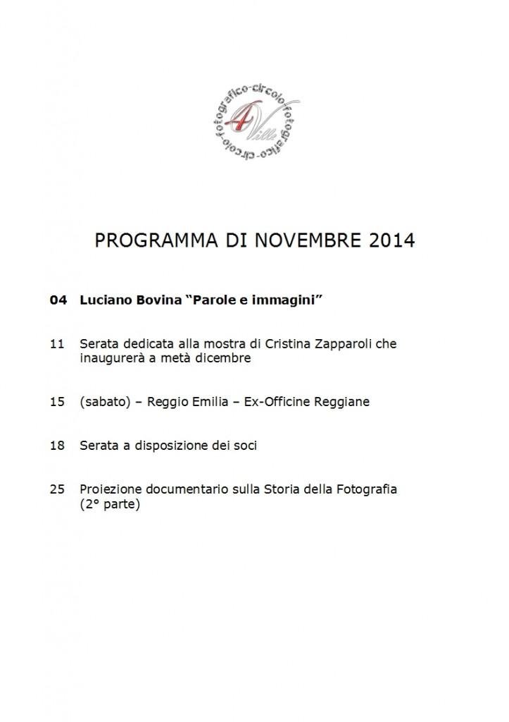 Programma 11 2014