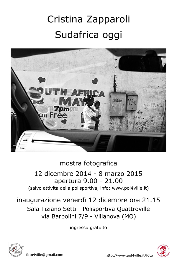 Locandina mostra Cristina Zapparoli rid