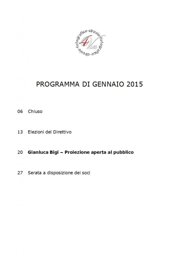 Programma 01 2015