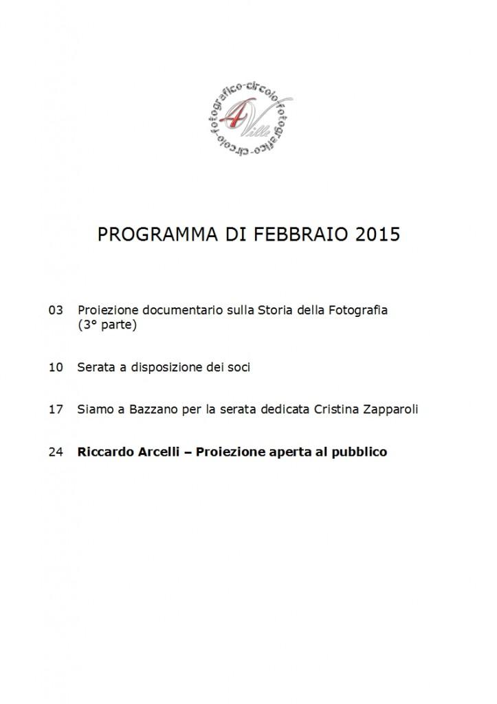 Programma 02 2015
