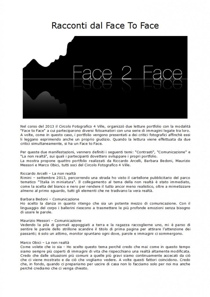 Racconti dal FaceToFace