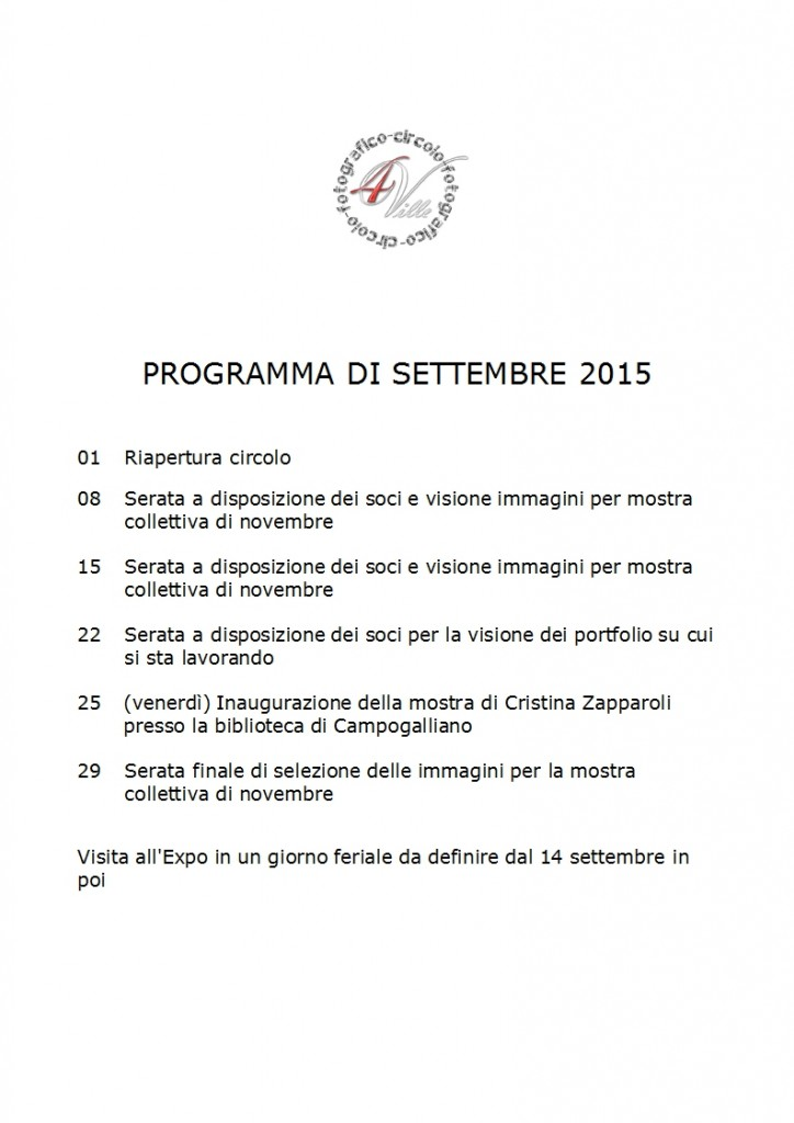 Programma 09 2015
