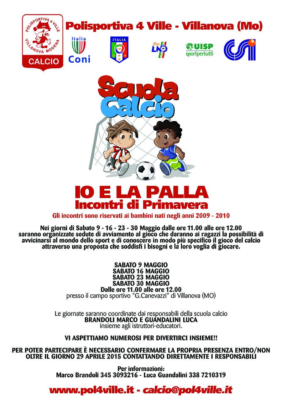 Scuola Calcio - Locandina avviamento2015