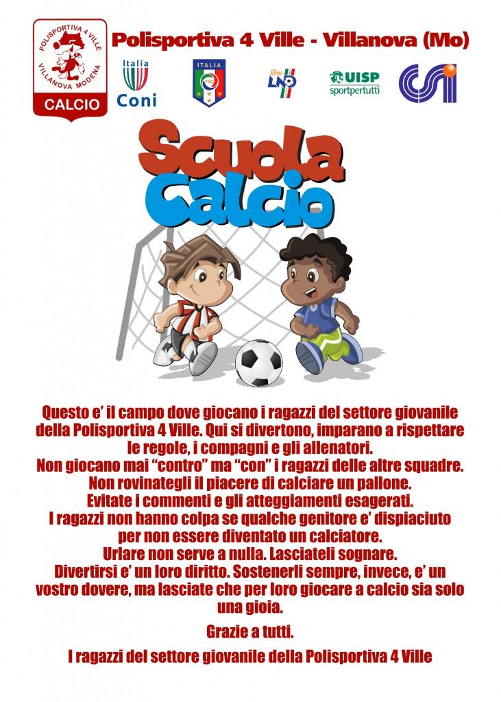Scuola Calcio - Cartello interno