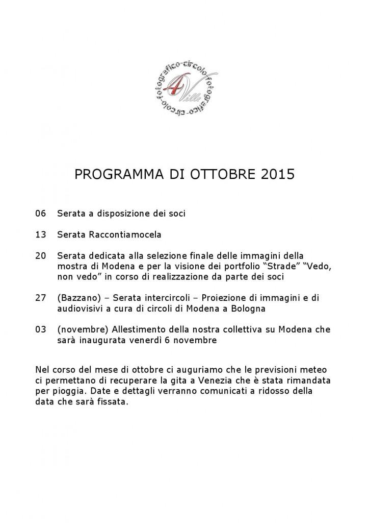 Programma 10 2015