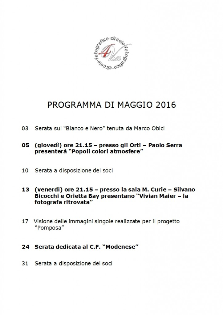 Programma 05 2016