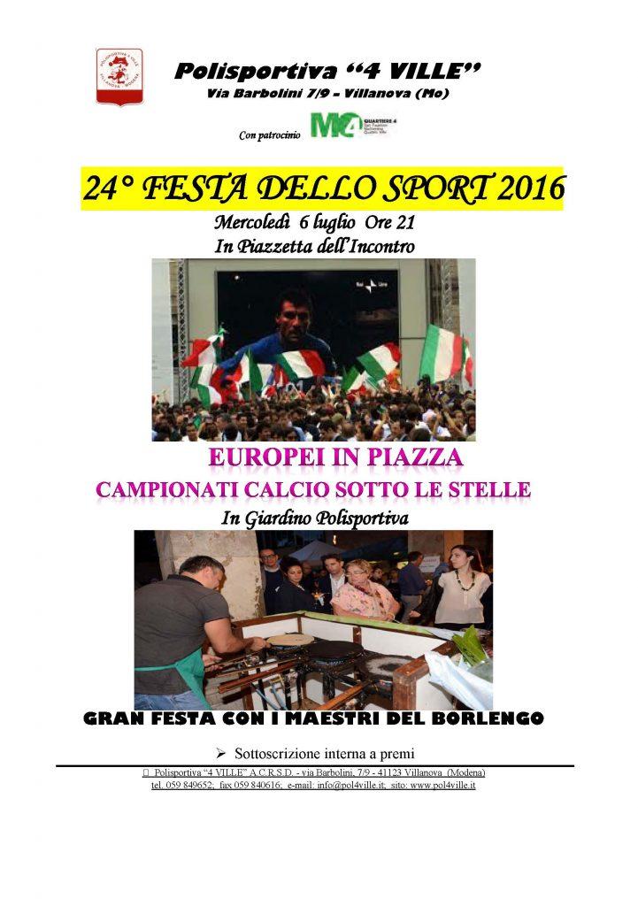 2016 festa sport volantino borlenghi