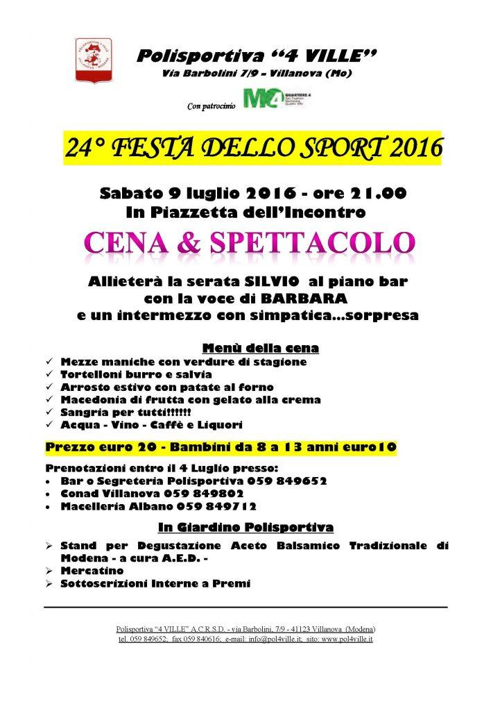 2016 festa sport volantino cena .3
