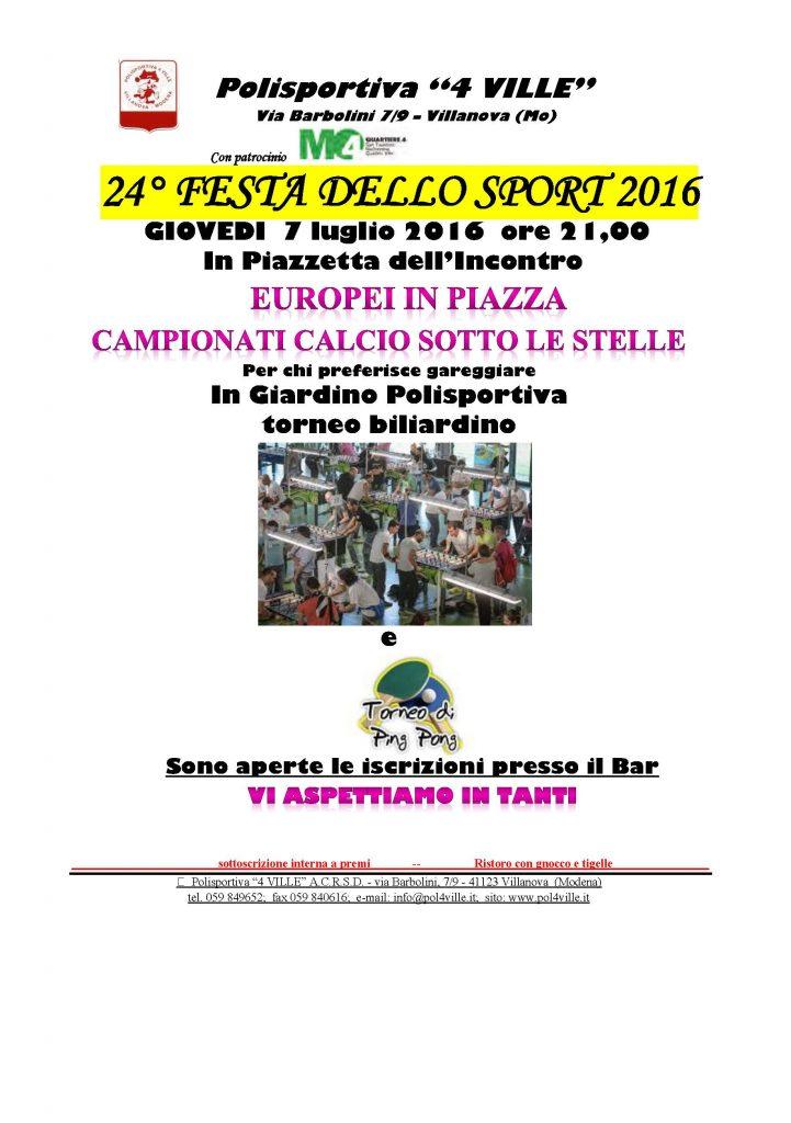2016 festa sport volantino MAXI ping pong