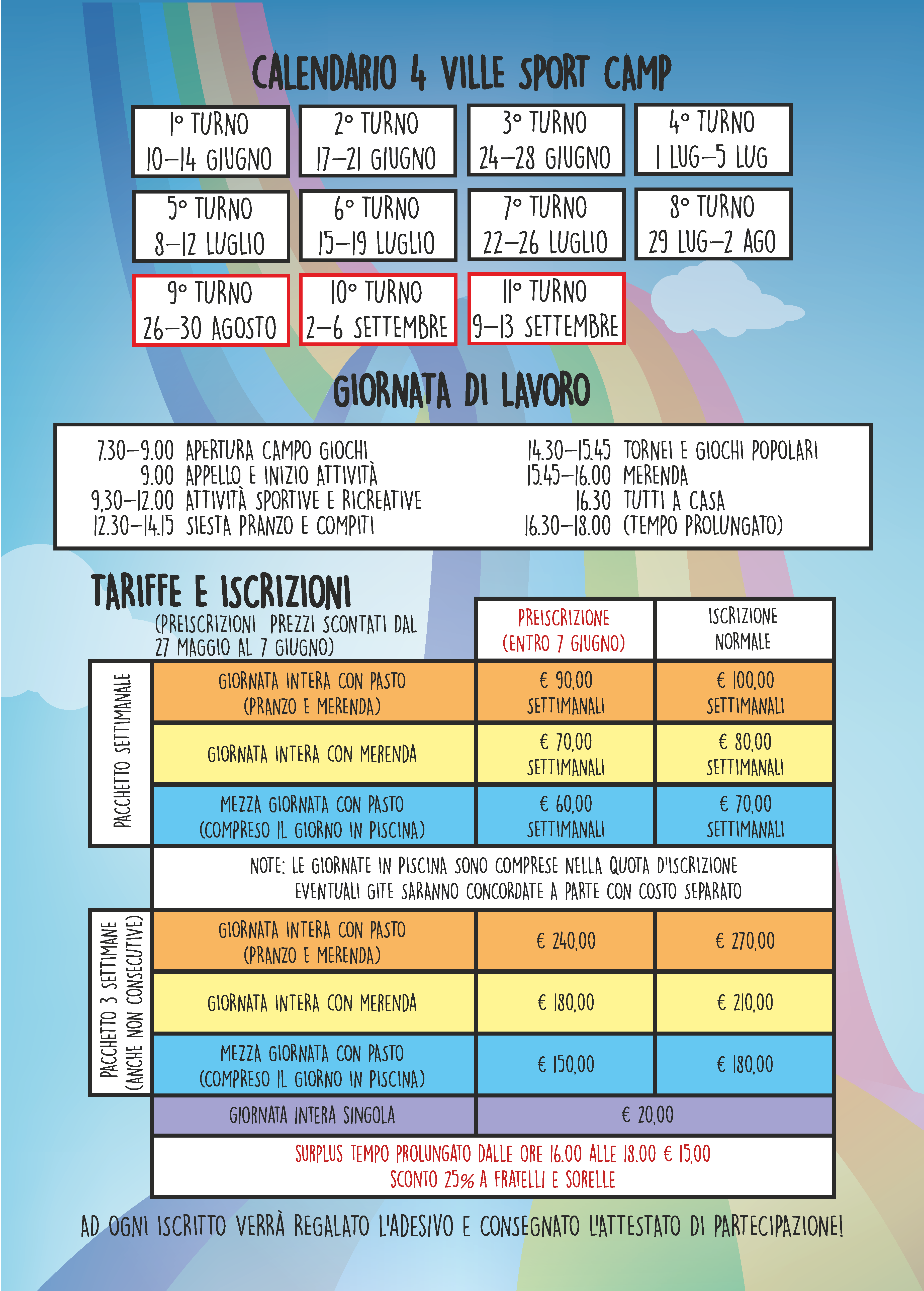 Pagina Calendario Settimanale.Polisportiva 4 Ville A C R S D 4 Ville Sport Camp